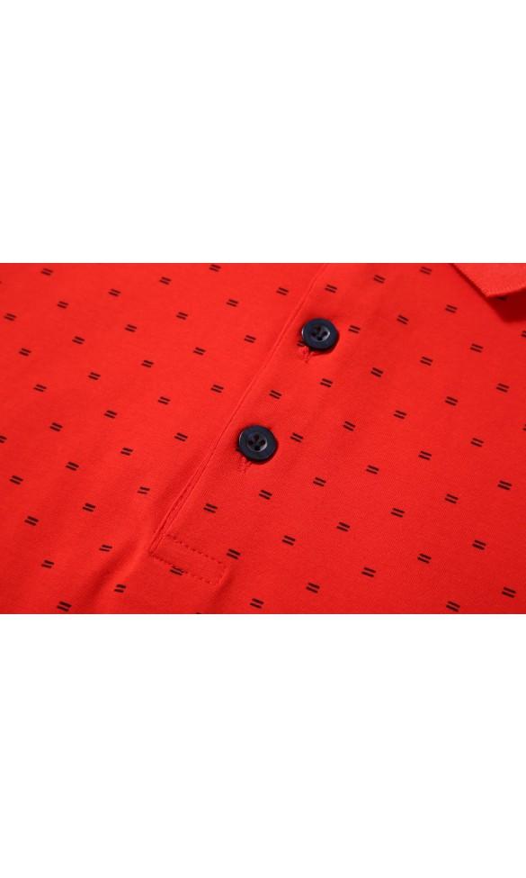 Polo męskie Walenty czerwone