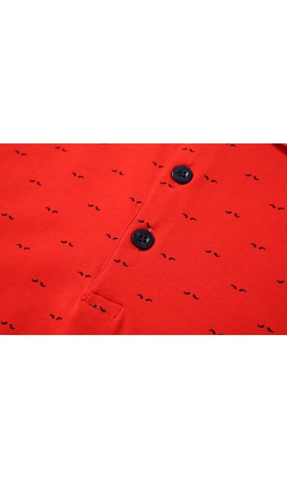 Polo męskie Zygmunt czerwone