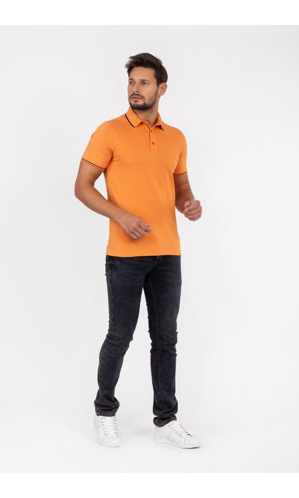Polo męskie Szczepan pomarańczowe