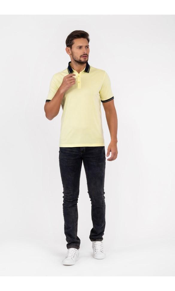 Polo męskie Tom pastelowo żółte