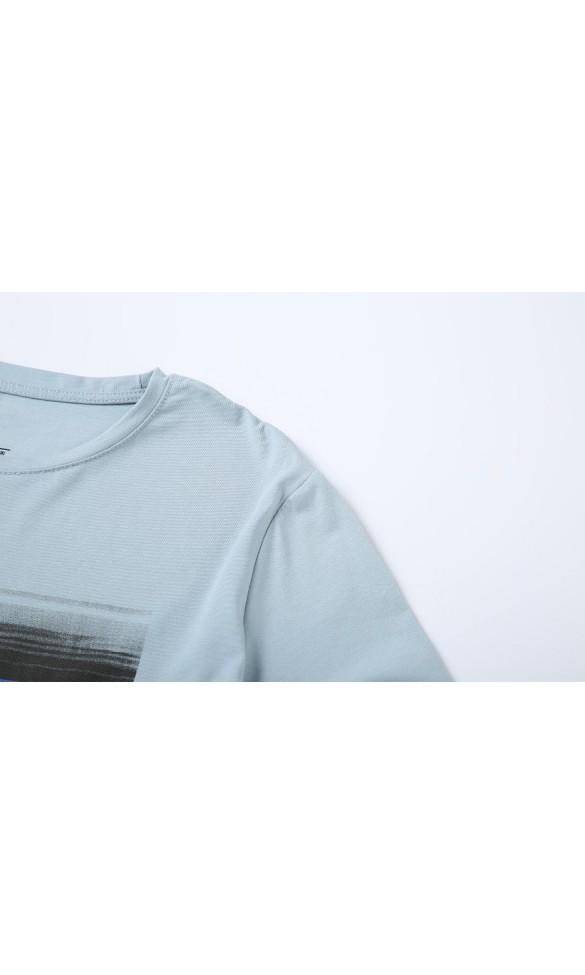 T-shirt męski Ryszard błękitny