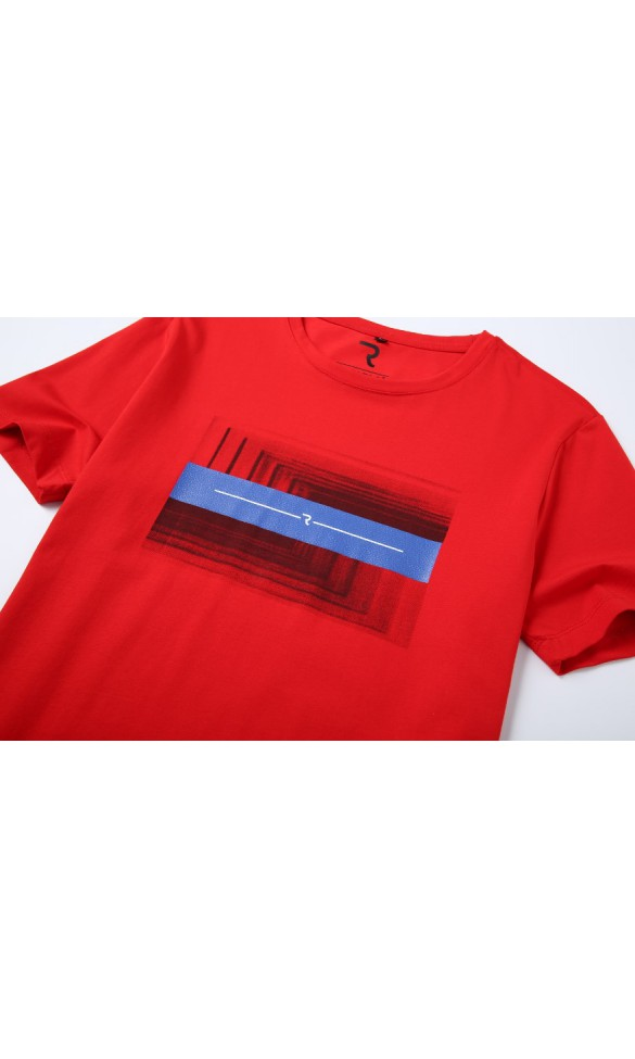 T-shirt męski Ryszard czerwony