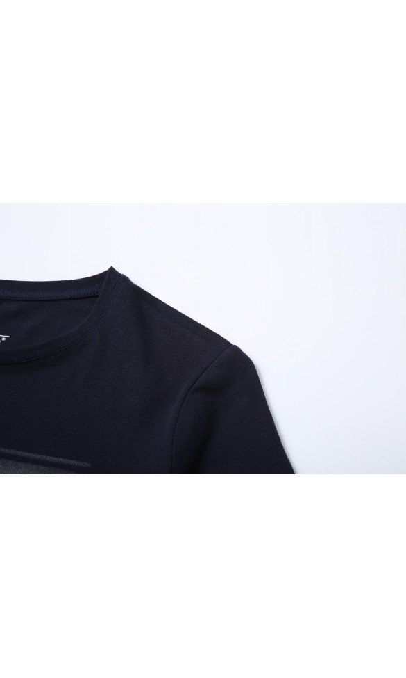 T-shirt męski Ryszard granatowy
