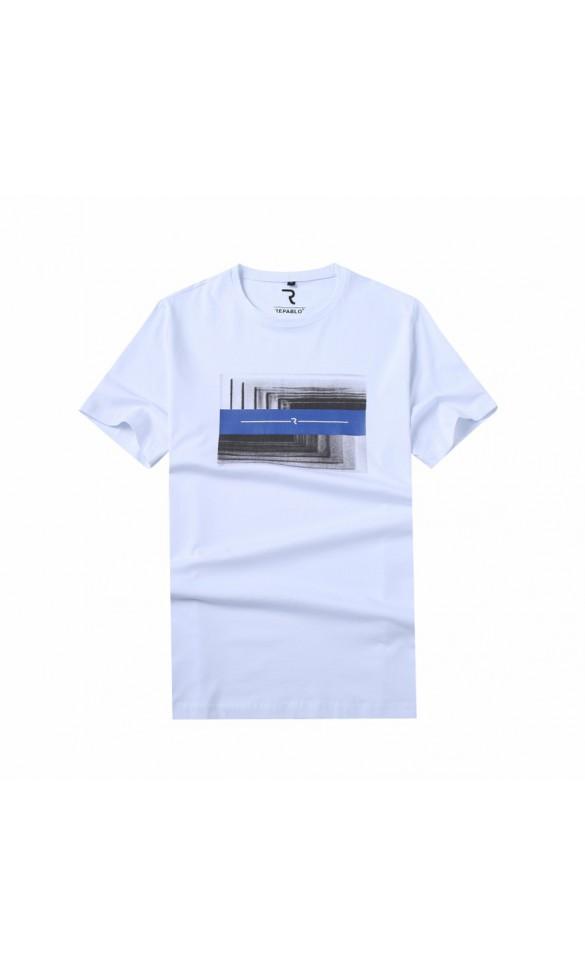 T-shirt męski Ryszard biały
