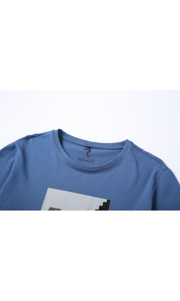 T-shirt męski Samuel jeansowy