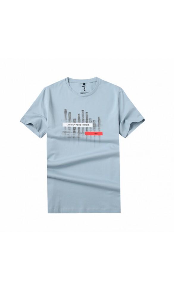 T-shirt męski Sebastian błękitny