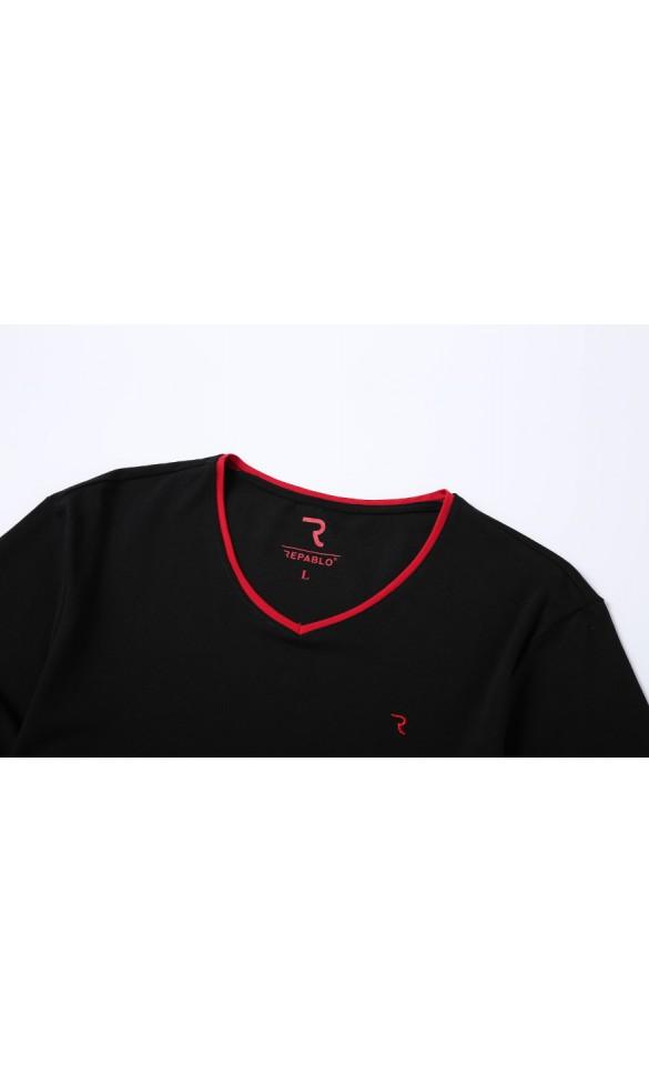 T-shirt męski Rafał czarny