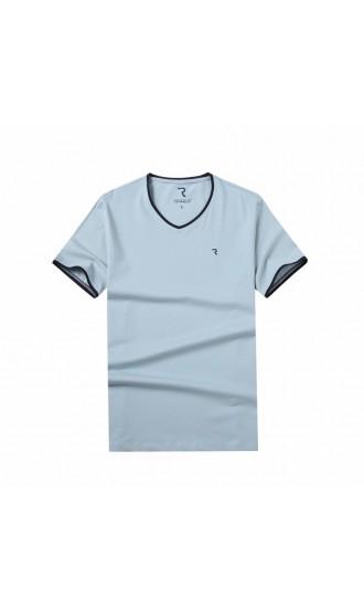 T-shirt męski Rafał błękitny