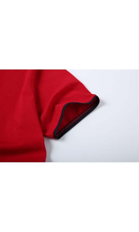 T-shirt męski Rafał ciemno czerwony