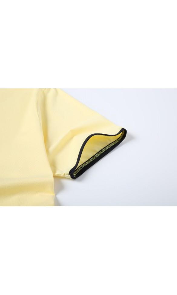 T-shirt męski Rafał pastelowy żółty
