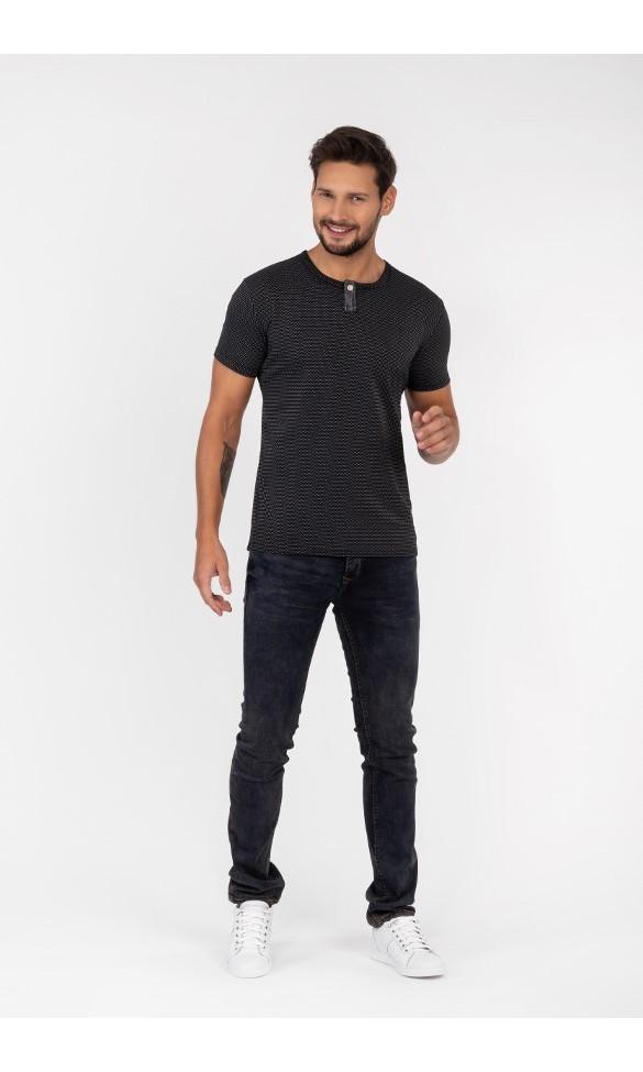 T-shirt męski Wincenty czarny