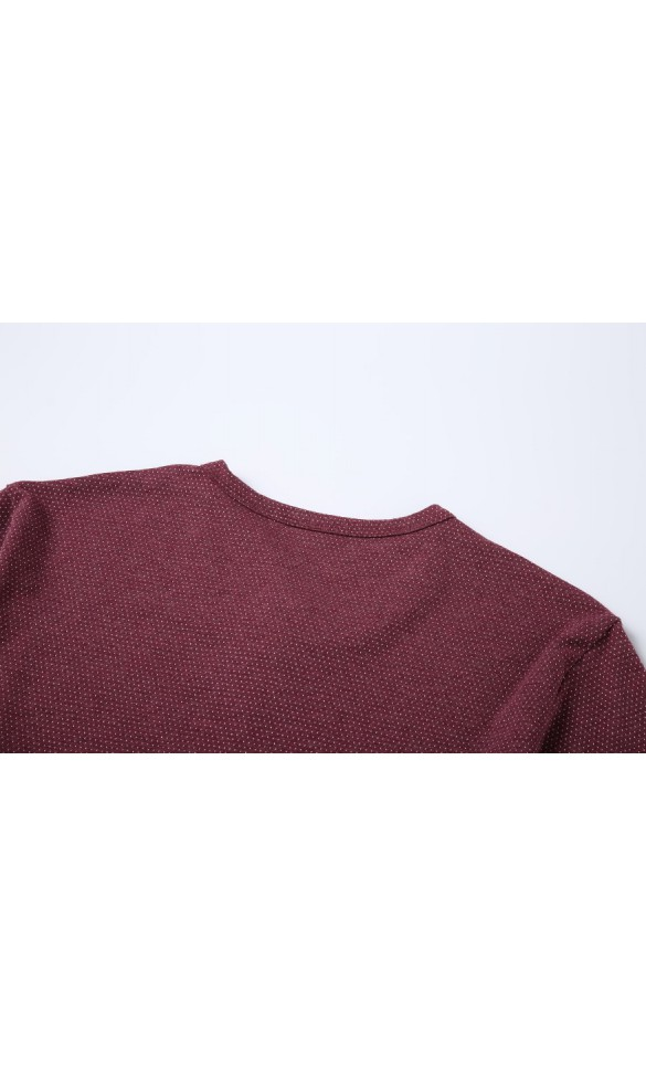 T-shirt męski Wincenty bordowy