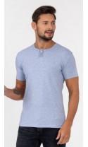 T-shirt męski Wincenty błękitny