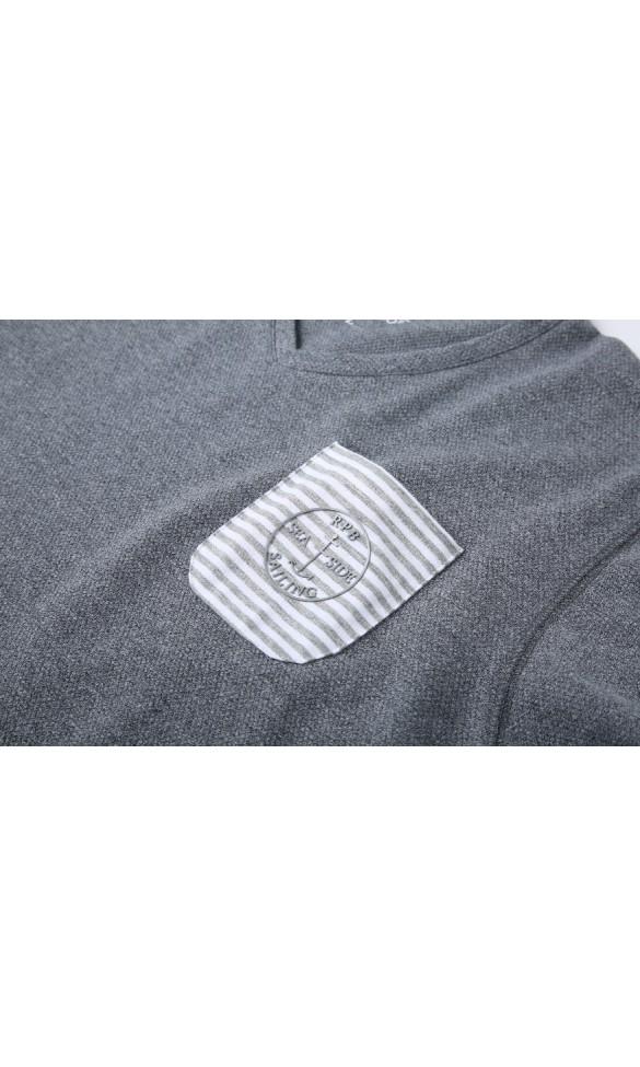 T-shirt męski Błażej szary