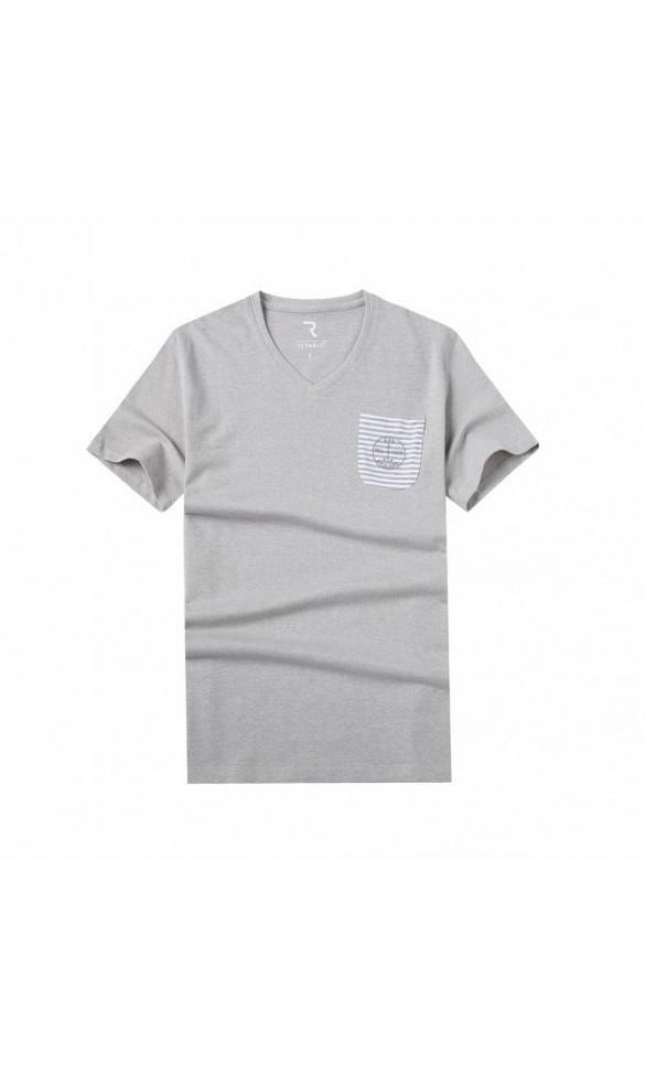 T-shirt męski Błażej beżowy