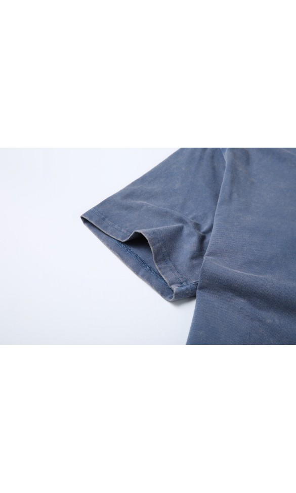 T-shirt męski Wacław niebieski