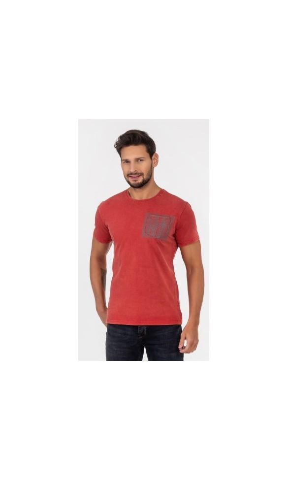 T-shirt męski Wacław czerwony