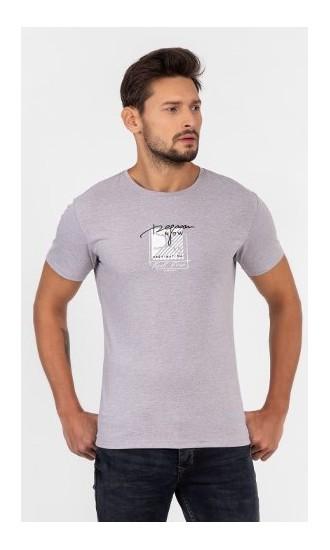 T-shirt męski Wiktor wrzosowy