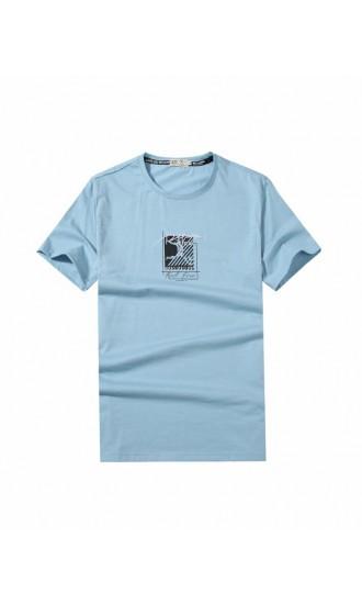 T-shirt męski Wiktor błękitny