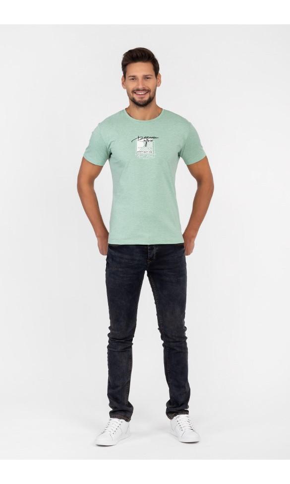 T-shirt męski Wiktor zielony