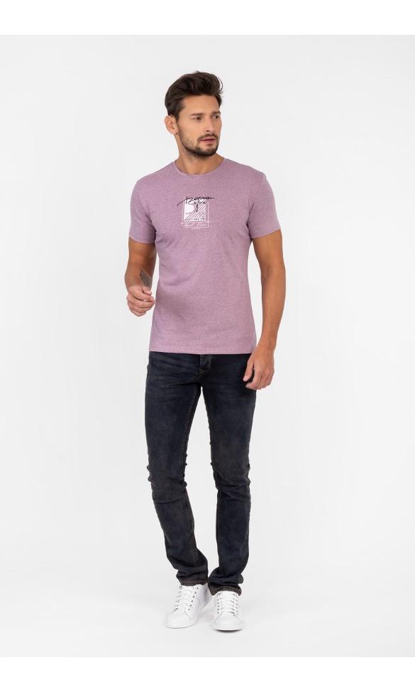 T-shirt męski Wiktor fioletowy
