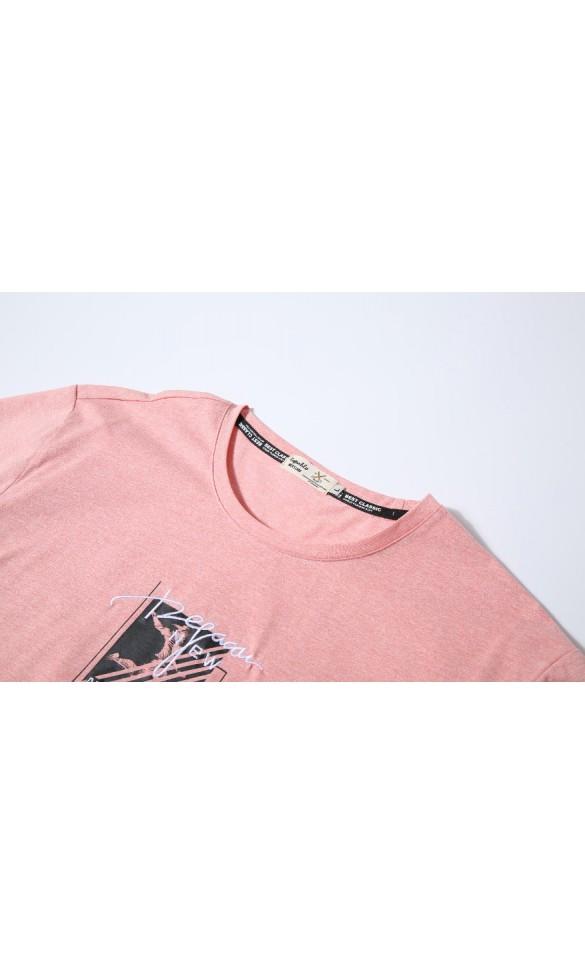 T-shirt męski Wiktor brzoskwiniowy