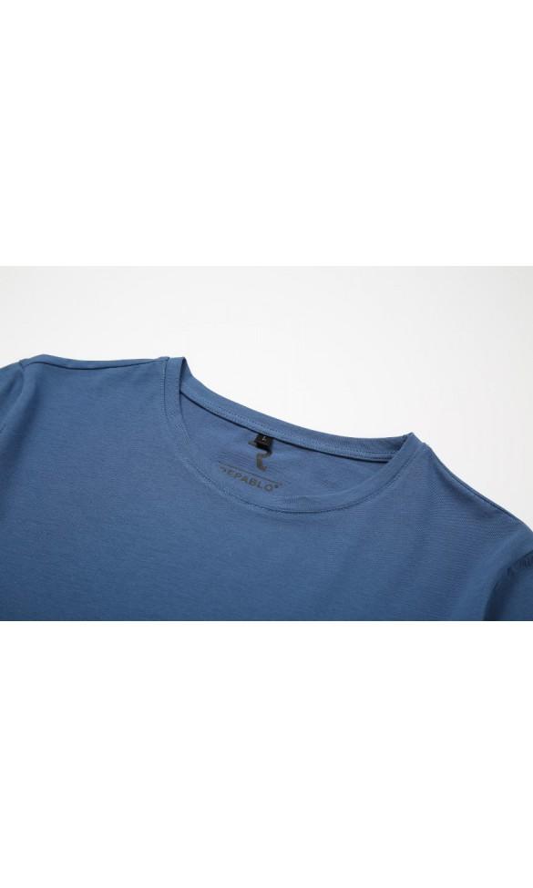 T-shirt męski Filip jeansowy
