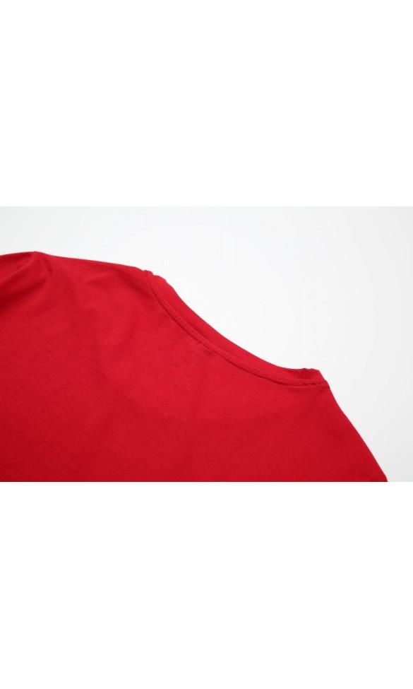 T-shirt męski Filip ciemno czerwony