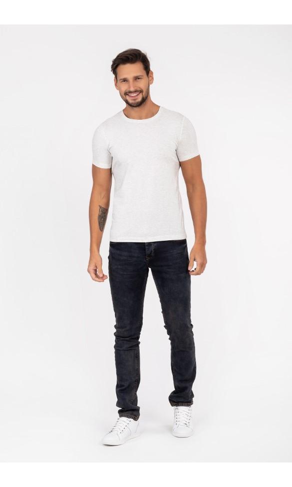 T-shirt męski Filip ciemno jasno szary melanż