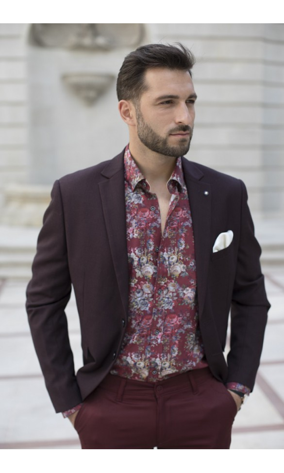 Koszula Sergio bordowa