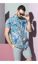 Koszula męska Basil hawajska ciemna