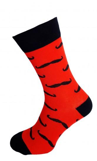 Skarpety Czerwone wąsy