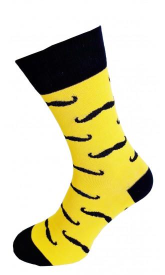 Skarpety Żółte wąsy