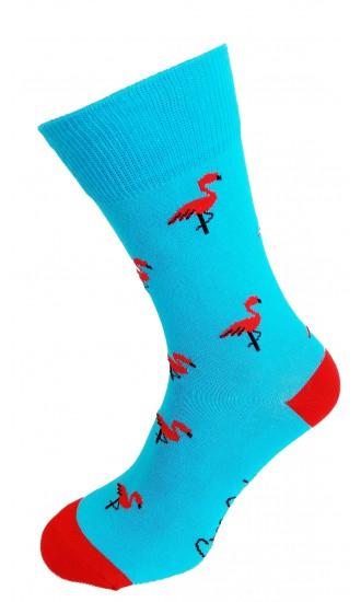 Skarpety Niebieskie flamingi