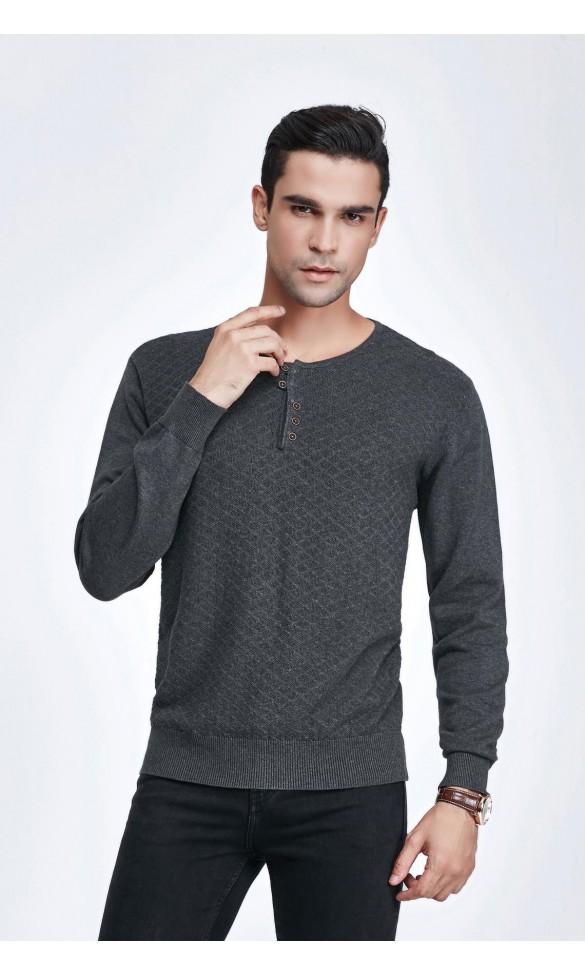 Sweter męski Luca Popielaty