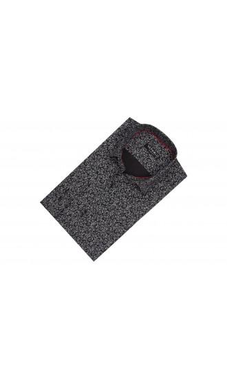 Koszula męska Agustin czarno-szara
