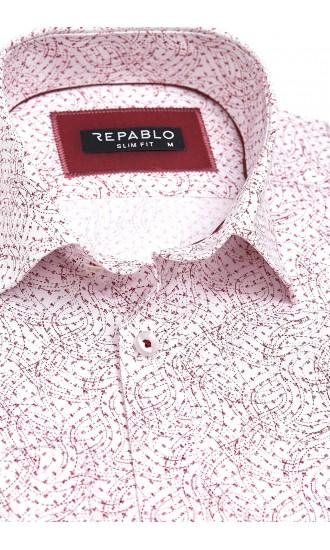 Koszula męska Eduardo biało-czerwona