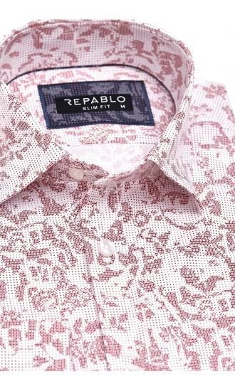 Koszula męska Santino biało-czerwona
