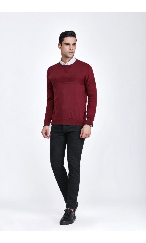Sweter męski Simon Bordowy