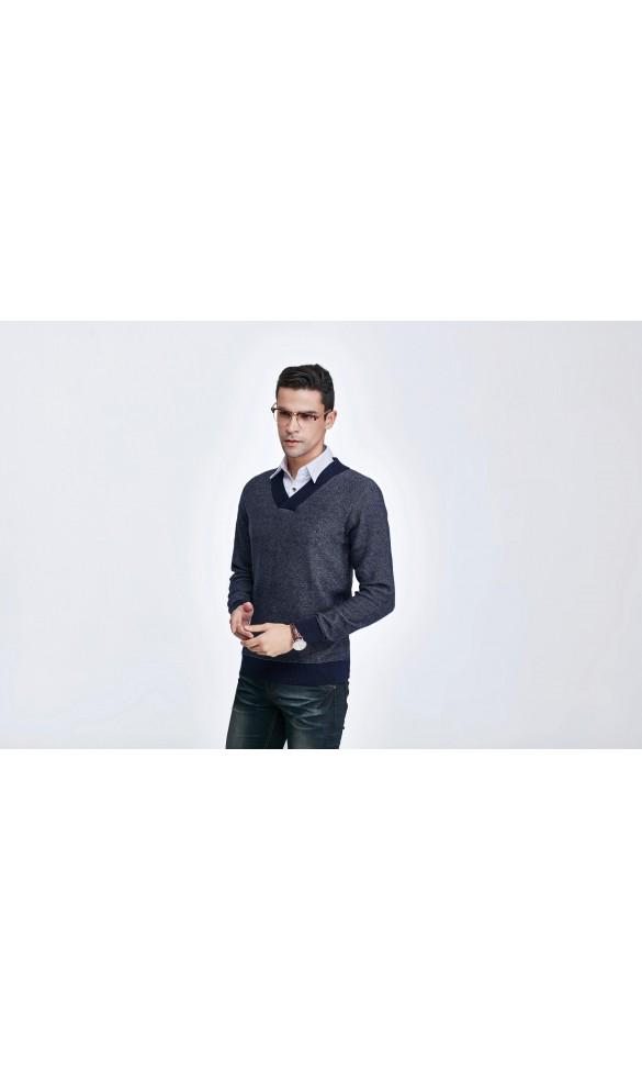 Sweter męski Nicolas Granatowy 2