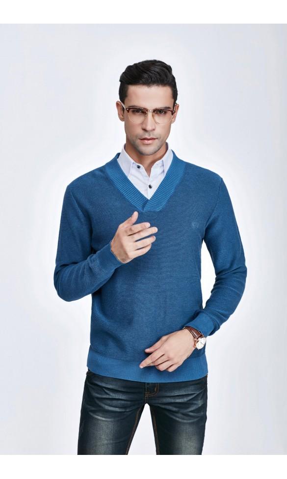 Sweter męski Nicolas Niebieski
