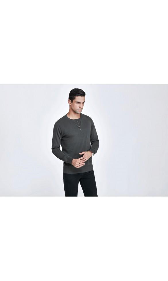 Sweter męski Axel Oliwkowy