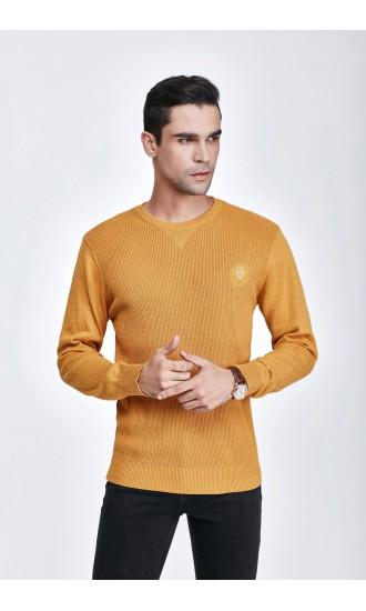 Sweter męski Bruno Karmelowy