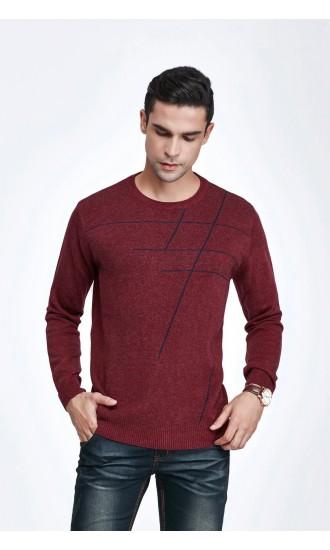 Sweter męski Leon Bordowy