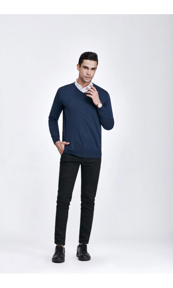 Sweter męski Serge Granatowy 2