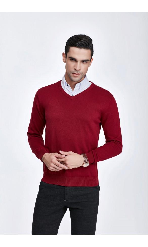 Sweter męski Serge Bordowy 2