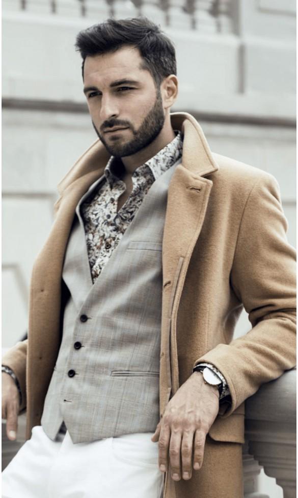 Płaszcz męski Trend granatowy