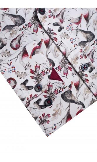 Koszula Bird bordowa Regular