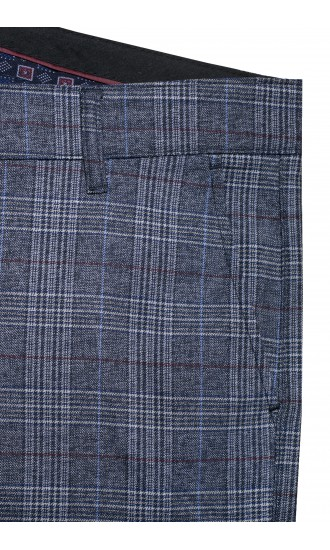 Spodnie męskie Dennis czarne melanż