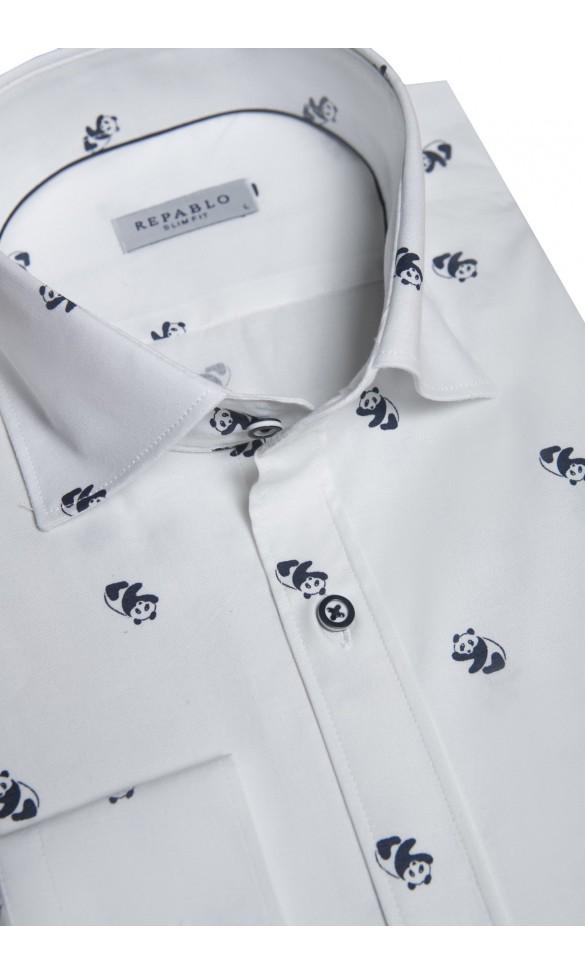 Koszula Panda biała